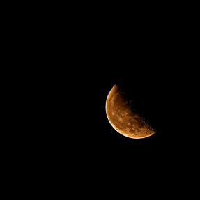 A Summer Moon From My Nikon L840