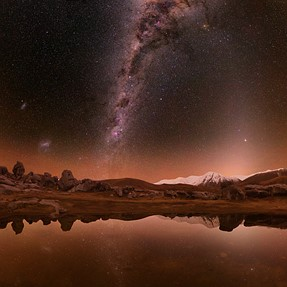 I found a nice foreground for a Milky way pano. Castle Hill, NZ.