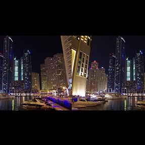 Dumai Marina night time 3D