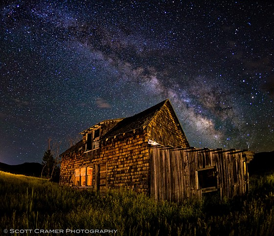 Old Cabin With Dark Skies: Sony Alpha Full Frame E-mount