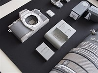 This Olympus OM-D E-M5, lenses and accessories are made entirely from paper