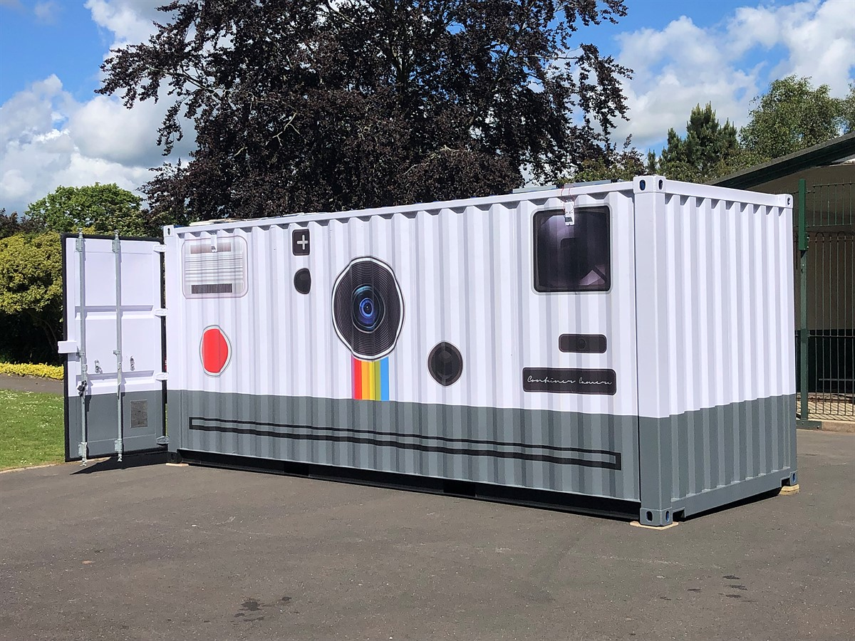 UK photographer transforms shipping container into camera and darkroom