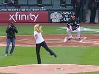 Photographer hit with ball during ceremonial pitch at recent White Sox game