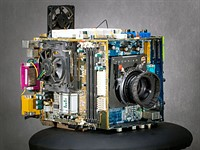 Photographer turns old computer parts into functional large format 'Frankenstein' camera