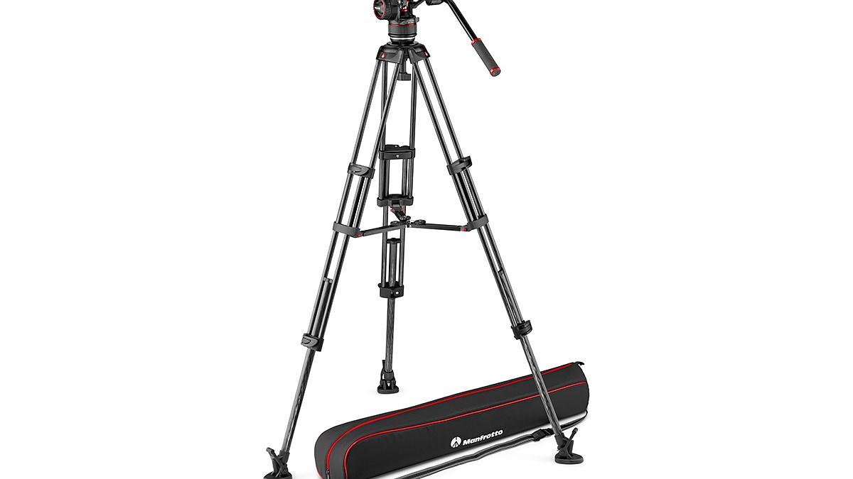 Manfrotto 546B Twin Leg Video Tripod with Mid Level Spreader Black