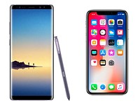 iPhone X vs. Samsung Note 8