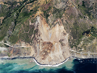 Before and after photos show Big Sur landslide