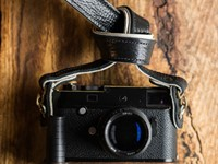 Holdfast Gear's new Maven Strap is made with bison leather and brass hooks