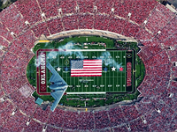 How to photograph a stealth bomber over the Rose Bowl