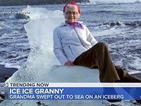 Viral 'Ice Throne' photo captured as grandma on iceberg was swept out to sea