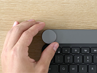 Logitech's new Craft keyboard includes a dial for photo and video editors