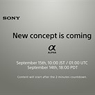 Sony countdown timer teases a 'new concept' set to be announced next week