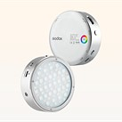 Godox's new R1 and RF1 lights are compact LED discs that look a little familiar