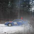 Photographer struck by rally car while standing near track corner