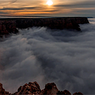 Grand Canyon time lapse records rare cloud inversion