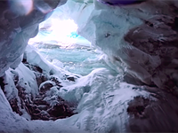 GoPro documents skier's fall into crevasse