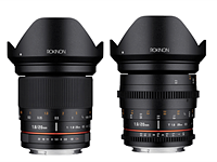 Rokinon 20mm F1.8 and Cine DS 20mm T1.9 Full Frame Super Wide Angle lenses now available