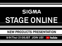 Sigma will announce new products on September 9