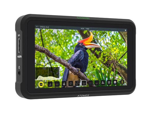 The Atomos Shinobi is a light, bright 5in 1920x1080 HDMI monitor for $399