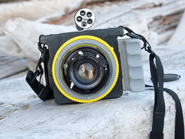 Cameradactyl Homonculus 69 camera launches with support for Mamiya Press lenses, Graflex backs