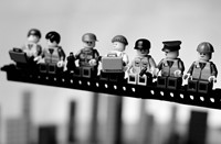Classic photographs recreated in Lego