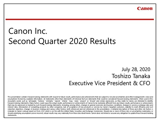 Canon Q2 financial results: Imaging division still profiting, but down 93.9% year-over-year