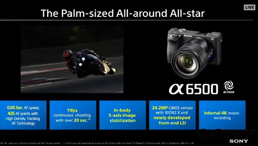 Sony a6500 adds 5-axis stabilization, touchscreen and processing power 1