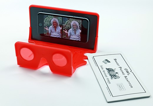 Brian May Launches Smartphone Adapter For Stereoscopic Virtual