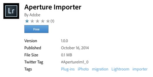 Adobe releases new 'Aperture Importer' plugin for Lightroom