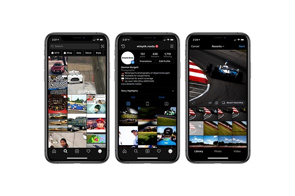 Instagram updates iOS app with support for iOS 13's native Dark Mode UI