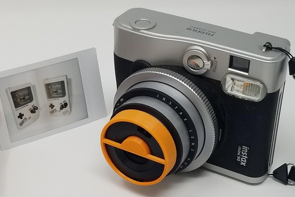 This 3D-printed accessory makes it possible to shoot split double exposures on Instax Mini 90 cameras