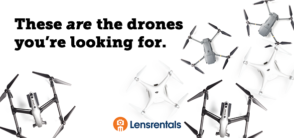 Lensrentals is now renting out drones and VR/360 equipment