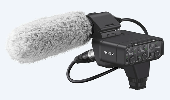 a new xlr mic adaptor kit is also introduced, with two xlr/trs combo  connectors and one 3 5mm stereo mini jack  both the shotgun microphone and  xlr kit