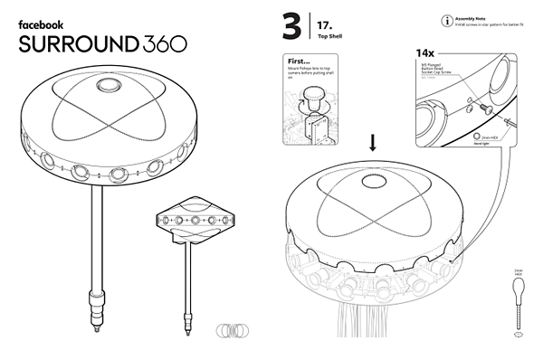Facebook posts Surround 360 camera assembly instructions on GitHub 1