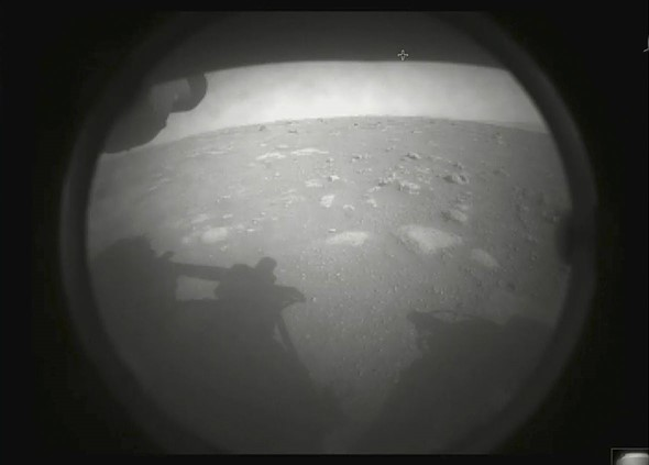 NASA's ambitious Perseverance rover lands on Mars and sends back its first images