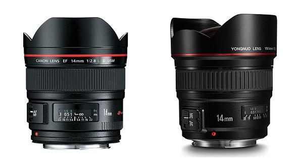 Yongnuo announces YN 14mm F2.8 Canon lens clone 1