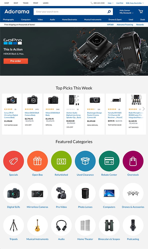 Adorama launches new website and and redesigned logo