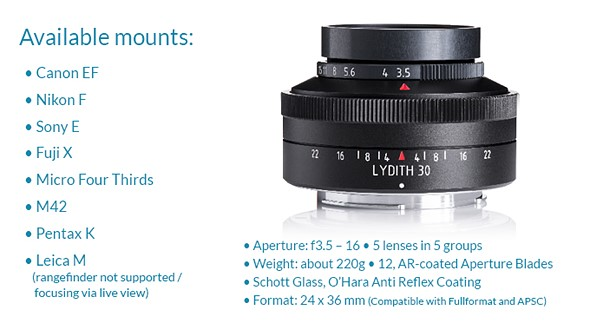 Meyer Optik launches modern version of historic Lydith 30mm F3.5 4