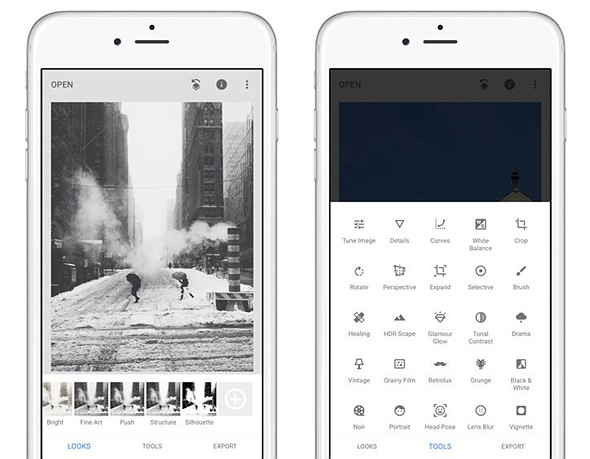Snapseed app updated with new interface and presets, adds perspective tool to iOS