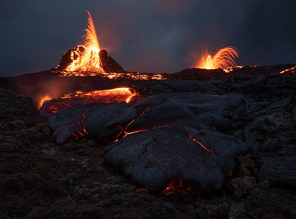 Lava Frenzy: Shooting Fagradarsfjall Volcano in Iceland