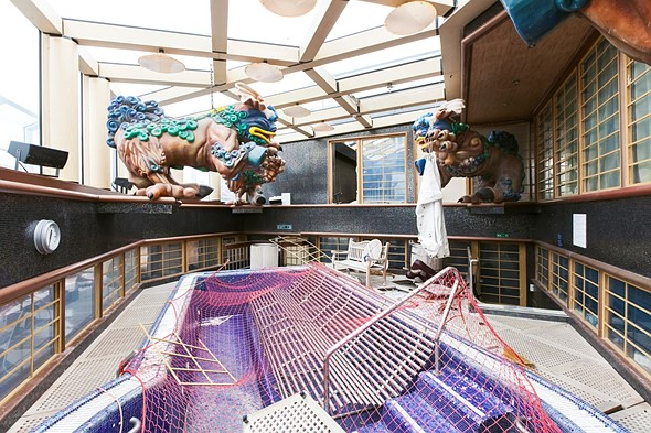 Haunting photos from inside the wrecked cruise ship Costa Concordia 13