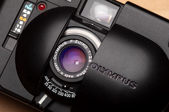 Olympus XA 35mm film rangefinder