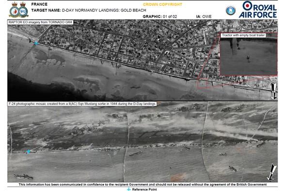 RAF recreates D-Day reconnaissance photos