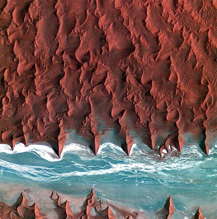 Images of earth from space: Namib desert, Africa
