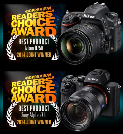 Joint-winners: Nikon D750 and Sony Alpha a7 II