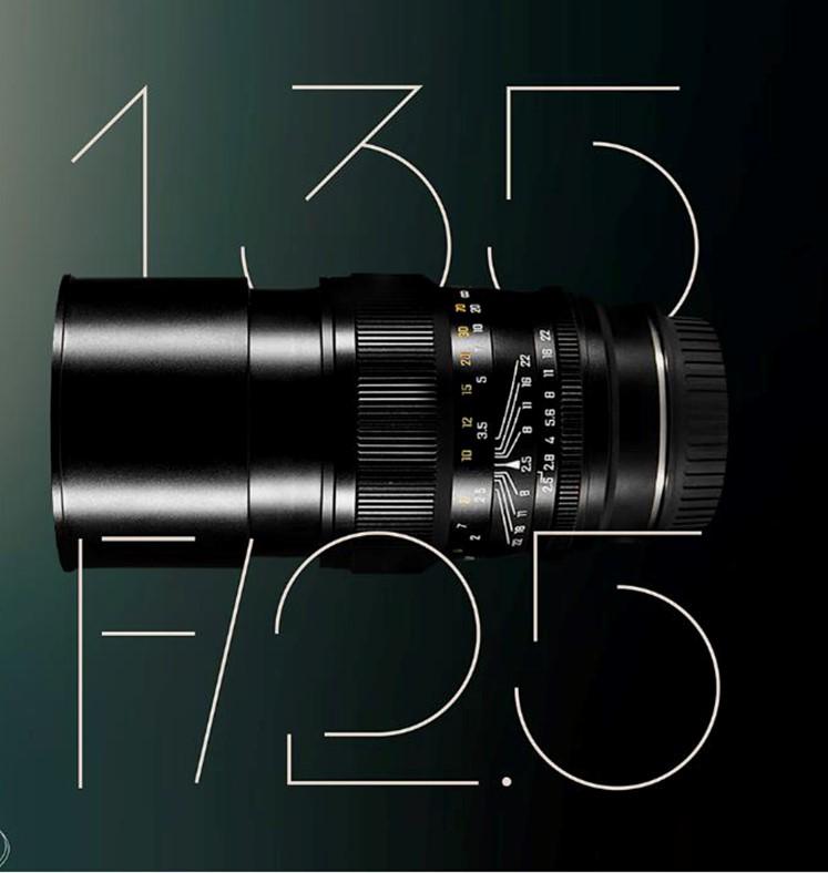 Zhong Yi Optics releases 9 135mm F2.5 lens for full-frame DSLR, mirrorless camera systems