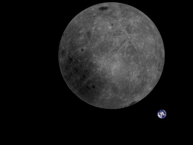 Chinese satellite captures image showing both Earth and the Moon's far side