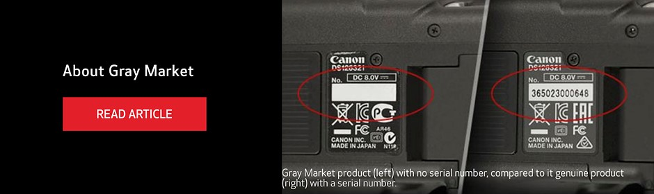 Canon publishes microsite to bring awareness to counterfeit, gray market Canon products