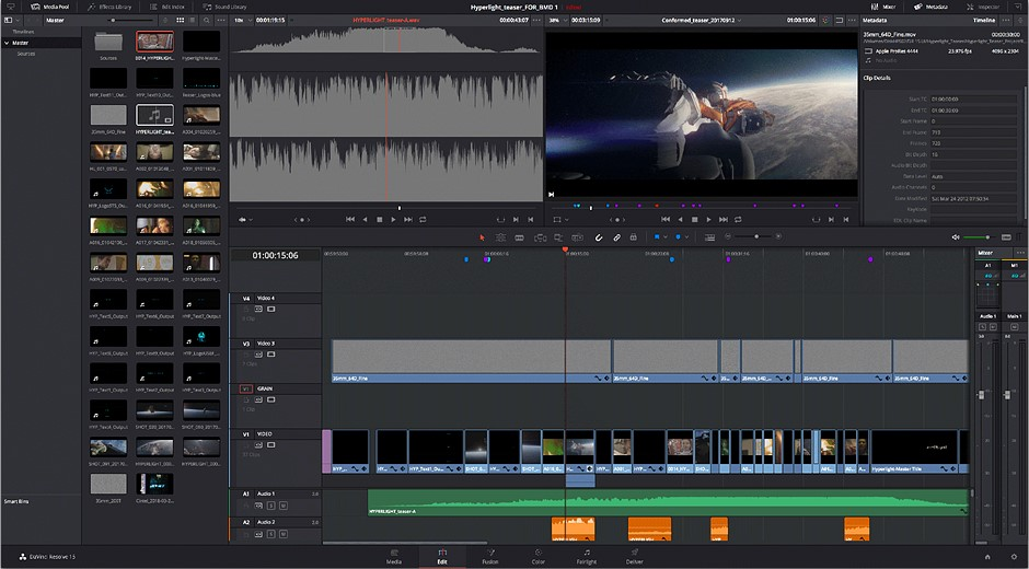 Blackmagic releases DaVinci Resolve 15 with all-new VFX and