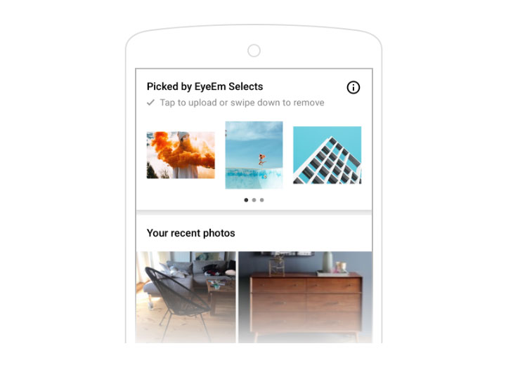 EyeEm Selects helps you find the best images in your camera roll for posting